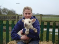 Nic with lamb