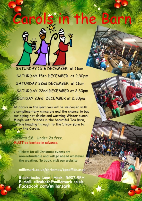 2018 Carols in the Barn A4 poster
